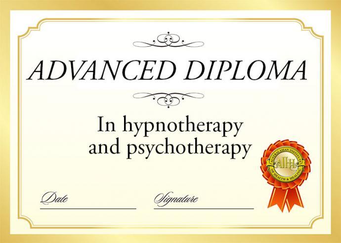 Advanced diploma hypnosis