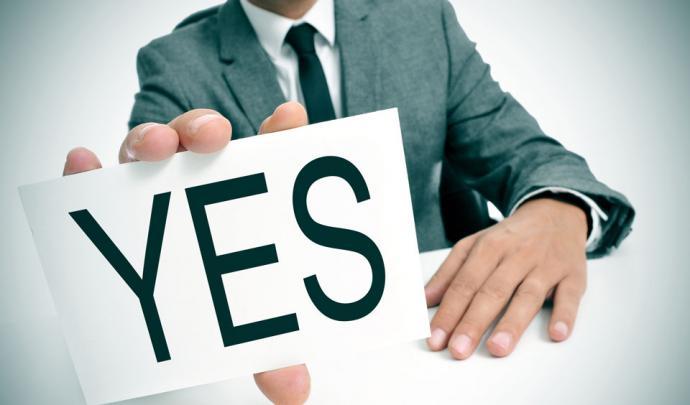 Man saying yes