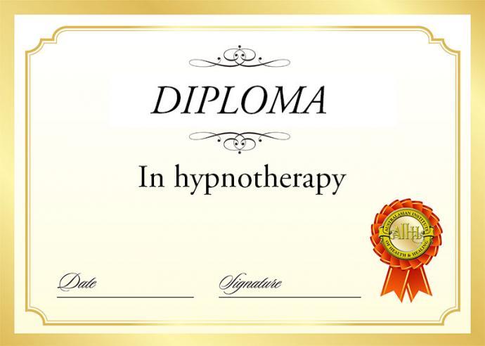 Diploma hypnosis